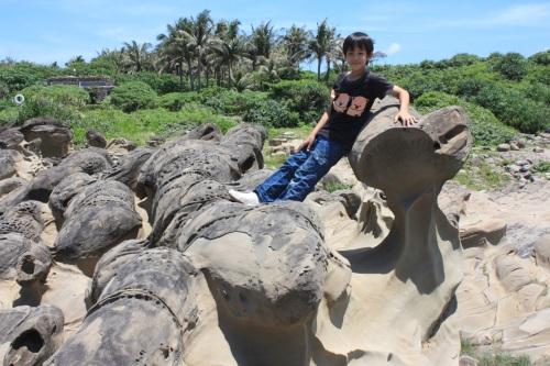 The mushroom rock formations at Shiauyeliou.